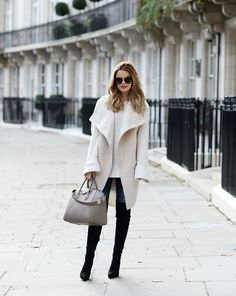 """justthedesign: """"These boots look sleek and sophisticated worn with Annette Haga's sheepskin waistcoat and knitted extra long sleeved jumper. Get yourself a similar shearling item to join the..."""