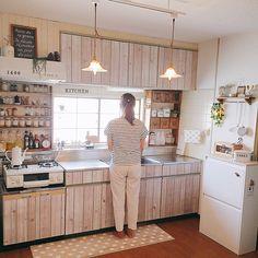 Diy Kitchen Storage, Diy Storage, Small Apartments, Small Spaces, Small Apartment Kitchen, Country Kitchen, Kitchen Design, New Homes, Interior Design