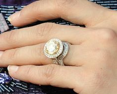 Carrie Underwood's ring from hubby Mike Fisher is a flawless yellow diamond by Johnathan Arndt