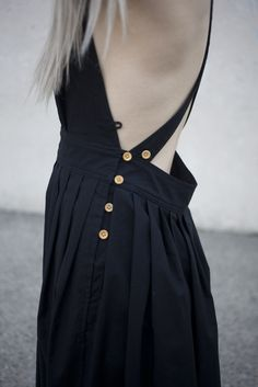 Electric Feathers Travelling Pinafore in Black | Oroboro | Brooklyn, New York