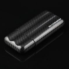 Porsche Carbon Fiber Gloss Cigar Case - Richard Cutters - Cigar Accessories Cigar Holder, Cigar Cases, Cigar Accessories, Cigars, Carbon Fiber, Nom Nom, Porsche, Edc, Life