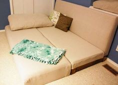 DIY convertible couch - make your own couch that converts into a pull-out bed