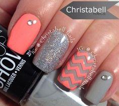 Pink grey and chevron