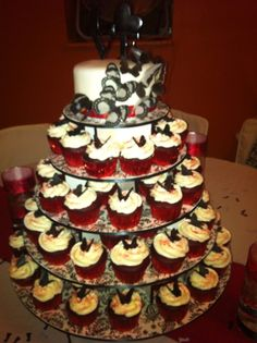 Butterfly wedding cupcake tower