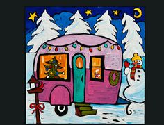 """Mom- This is by an artist from Fairhaven that I know from the Rustic. I thought you might like it for your """"Travel Trailers"""" board!"""