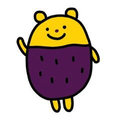 happy potato bear – LINE 스티커 Funny Illustration, Pattern Illustration, Happy Potato, Sweet Potato, Character Inspiration, Character Design, Doodle Drawings, Cute Characters, Emoticon