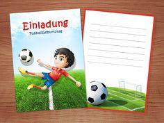 Fussball Einladung: kostenlose Vorlagen zum Ausdrucken Family Guy, Kids, Fictional Characters, Templates Free, Football Invitations, Invitations Kids, Young Children, Boys, Children