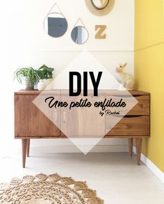 DIY a small enfilade pre sentation.jpg - Ikea DIY - The best IKEA hacks all in one place Ikea Buffet, Diy Bedroom Decor, Diy Home Decor, Palette Diy, Diy Tumblr, Crate Shelves, Vinyl Storage, Diy Cabinets, Diy Interior