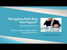 Struggling With Blog Post Topics? By using the resources in this video, I hope that you find it easier to come up with the blog post topics you are looking for each time you are needing fresh content.