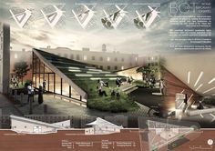 Amazing intro pages of projects Concept Board Architecture, Architecture Presentation Board, Architecture Panel, Contemporary Architecture, Architecture Design, Presentation Board Design, Planer Layout, Performing Arts, Projects