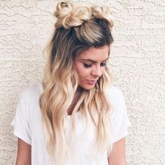 Double Buns   beauty trends for festival                                                                                                                                                                                 More