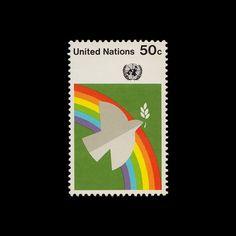 UN Peace Dove & Rainbow.