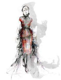 Vivienne Westwood fashion illustration