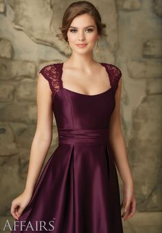 Bridesmaids Dresses 31061 Lace and Satin