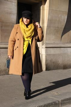 Stephanie working a really cute winter look! Girls Winter Outfits, Plus Size Winter Outfits, Plus Size Outfits, Fall Outfits, Look Plus Size, Trendy Plus Size, Mustard Scarf, Outfit Invierno, Zara