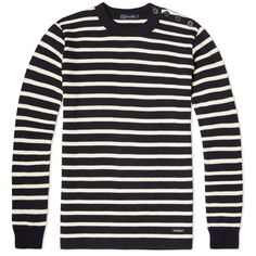 Firmly built on a reputation of high quality products, the Armor-Lux label is still based and made in the French region of Brittany, where they were originally established in 1938. Boasting a range of jumpers and t-shirts in the only real, authentic Breton Stripe available, the signature pattern remains a core piece in the collection. Expertly made in France and knit in a satisfying 1x1 rib, this 100% wool jumper is finished with a classic button closed shoulder.  100% Wool Stripe Design…