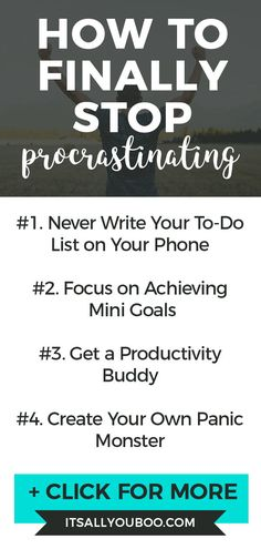 Can't stop procrastinating everything? Here are 4 ways to beat procrastination and get it done on time that work. Time Management Skills, Stress Management, Get It Done, Getting Things Done, Self Development, Personal Development, Productivity Quotes, Its Time To Stop, How To Stop Procrastinating