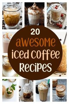 20 Awesome Iced Coffee Recipes Iced coffee is the perfect refresher on a hot afternoon. Make your coffee break into a little oasis of icy sweetness with one of these iced coffee recipes. Iced Coffee Drinks, Coffee Drink Recipes, Ninja Coffee Bar Recipes, Cold Brew Coffee Recipe, Espresso Recipes, Coffee Milkshake, Yummy Drinks, Yummy Food, Smoothies