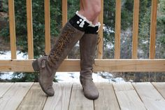 Set Of Two Womens Lace Boot Cuffs Womens Lace Boot by uptowngirlco