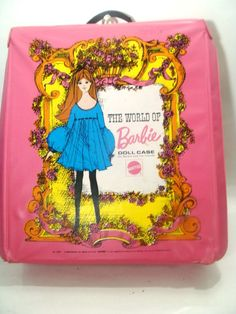 ___Barbie Doll World Mod 1968 Case Trunk Home Decorative Pink Vintage Girl Toy Room ___ Hi there...... original Barbie Doll mid century 1968 pink Mod Girl pink carry case or trunk. There is one corner that has a rough spot...please note the photos