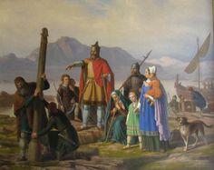 El noruego Ingólfur Arnarson, primer habitante permanente de Islandia.