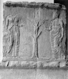 Sculptures - Athena and Erechtheus with olive tree - Full Screen