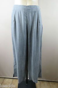 Size L 14 Ladies Grey Culottes Pants Trousers Office Boho Chic Casual Design | eBay