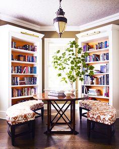 Lovely library/breakfast nook.