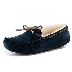 e58ce68cd534 Amazon.com  Womens Leather Fleece Scuffs Slippers Shoes Purple-38  Shoes