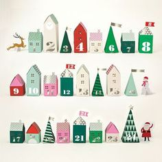 3D Advent Box Village Calendar, £11.95. Another cute idea for home made advent calendars, perhaps