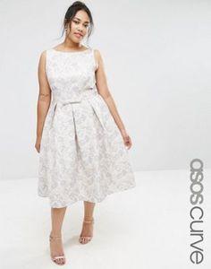ASOS CURVE WEDDING - Robe de bal de fin d'année mi-longue en jacquard