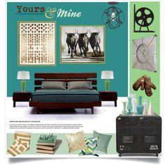 Blending Styles: Yours&Mine by nyrvelli on Polyvore featuring interior, interiors, interior design, home, home decor, interior decorating, Bradburn Gallery, Jonathan Adler, Natural Curiosities and West Elm