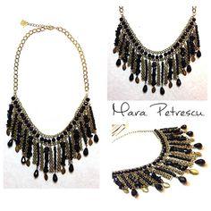 New black handmade statement necklace <3