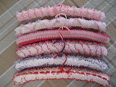 Knitting Patterns Coat Ravelry: Lace Coat Hangers pattern by Lorraine Prior Lace Knitting Patterns, Coat Patterns, Knitting Ideas, Crochet Coat, Knitted Coat, Knitted Gifts, Hanger Crafts, Shabby Chic Fabric, Craft Markets