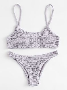 SheIn offers Ruched Cami Bikini Set & more t… Shop Ruched Cami Bikini Set online. SheIn offers Ruched Cami Bikini Set & more to fit your fashionable needs. Summer Bathing Suits, Girls Bathing Suits, Summer Suits, Bathing Suit Covers, Cute Bikinis, Cute Swimsuits, Summer Bikinis, High Leg Bikini, The Bikini