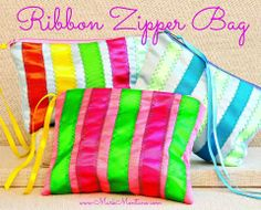 DIY Ribbon Zipper Bag by Mark Montano