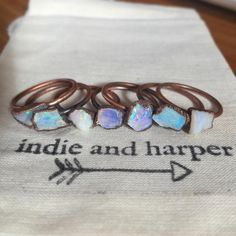Australian Raw Opal and Copper Ring | Bohemian Gypsy Jewelry | Indie and Harper – www.indieandharper.com