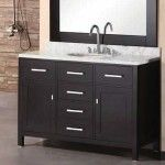 42 Inch Vanities Bathroom Black With Mirror