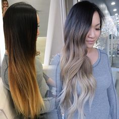 Ombré balayage session for this beauty. She did warm before and now wanted…' gorgeous Hair Color And Cut, Ombre Hair Color, Ash Ombre, Ombre Hair Long Bob, Brown Blonde Hair, Ashy Hair, Hair Highlights, Balayage Hair, Hair Looks