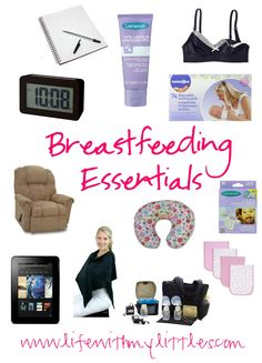 Breastfeeding Essentials: A complete list of what you need when breastfeeding. This is the best list, written by an experienced mom!