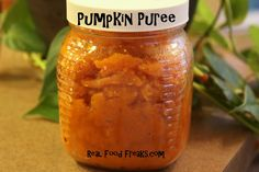 If you are wondering how to make pumpkin puree from scratch . . . I just did it. Sure it's a little more time consuming than using puree from a can, but what else are you going to do with those pumpkins that you have leftover from Halloween, hmmmm? Besides, homemade pumpkin puree is much better tasting than that crap in a can. Fo' sho'!