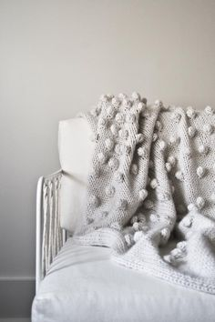 Bobble blanket from Purl Soho