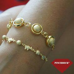 A alegria é a pedra filosofal que tudo converte em ouro. Benjamin Franklin #pinchbeck #pulseiras #folheadas #boatarde