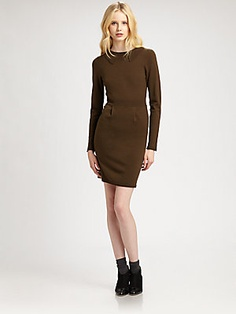 Cut 25 by Yigal Azrouel Merino Long-Sleeve Dress