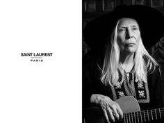 Joni Mitchell, 71, Stars in Saint Laurent's Latest Campaign (PHOTOS) http://stylenews.peoplestylewatch.com/2015/01/08/joni-mitchell-saint-laurent-campaign/