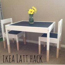 Ikea Latt Hack- DIY Chalkboard Play Table
