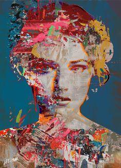 "Hossam Dirar; Painting, ""Lady"""