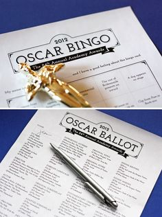 Hosting an Oscars party on Feb. 26? 20 different Oscar bingo cards you can print out, along with a matching ballot for guessing the Academy Award winners. Free PDF Printables.