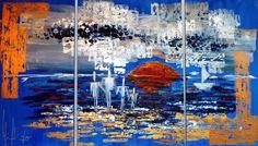 """Zukunft"" Künstler: Simone Labonté Acryl auf Leinwand 200cm x 70cm x 1,5cm  #simonelabonte #malerei #acryl #crelala"