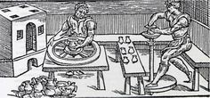 La evolución del torno rápido. Pese a lo que muchos creen, el torno alto de pie no apareció hasta fechas relativamente recientes. Tanto en la época romana como en la mayor parte de la Edad Media (y en buena parte el Tercer Mundo en la actualidad) el torno rápido se movía con la inercia de una rueda o volante que se impulsaba con la mano o con la ayuda de un palo.